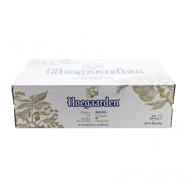 Bia Hoegaarden White Thùng 24 Lon 330Ml