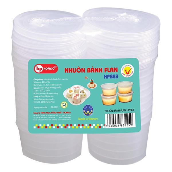 Lốc 10 Khuôn Bánh Flan Hofaco HPB83