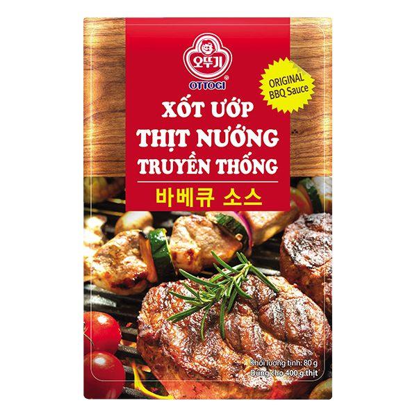 Sốt Ướp Thịt Nướng Truyền Thống Ottogi Gói 80G
