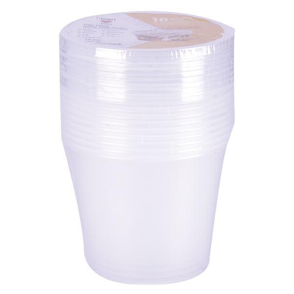 Lốc 10 Hộp Nhựa Tròn Đựng Thực Phẩm Emart 450Ml