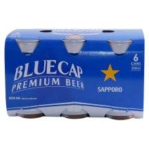 Bia Sapporo Blue Cap Lốc 6 Lon 330Ml