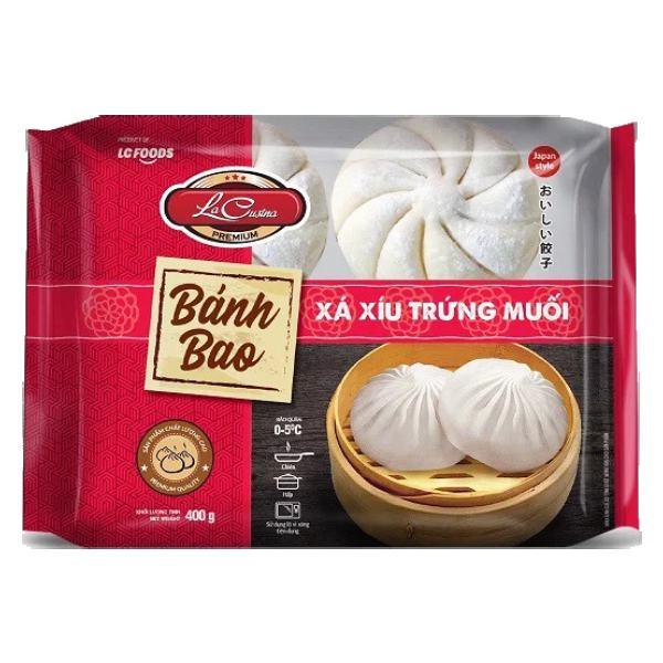 Bánh Bao La Cusina Xá Xíu Trứng Muối Gói 400G