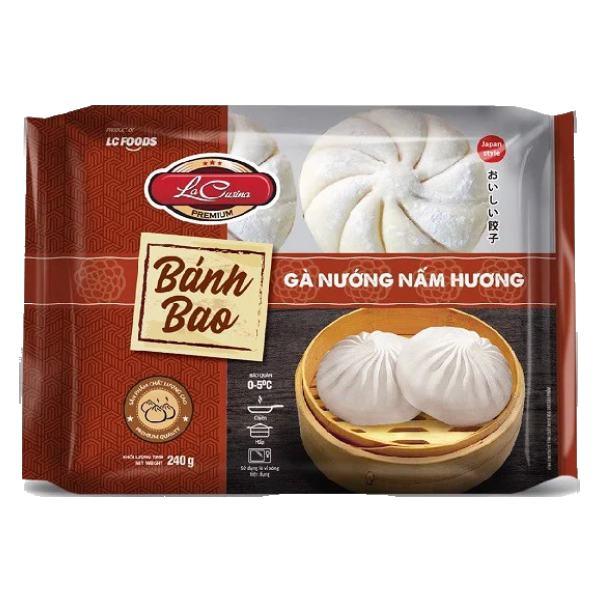 Bánh Bao La Cusina Gà Nướng Nấm Hương Gói 240G