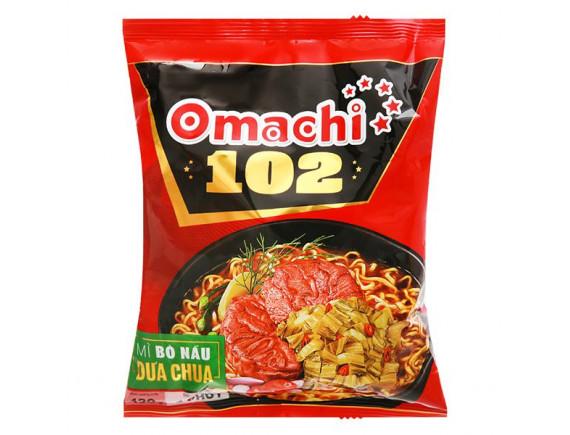 Mì Omachi 102 Bò Nấu Dưa Chua Gói 120G