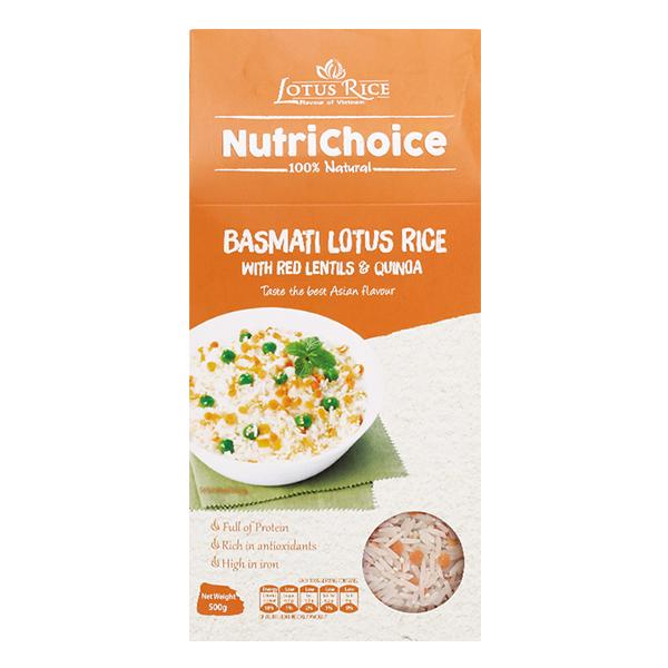 Gạo Lứt Hoa Lăng Diêm Mạch Lotus Rice NutriChoice 500G