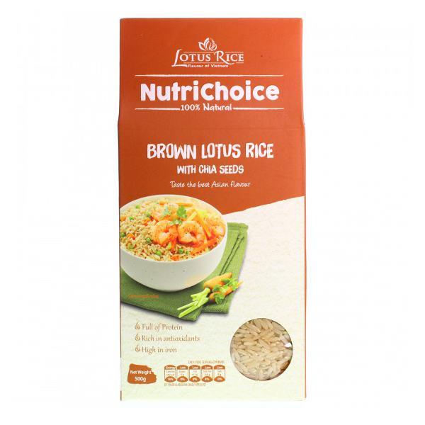Gạo Lứt Lotus Rice Jasmine Hạt Chia 500G