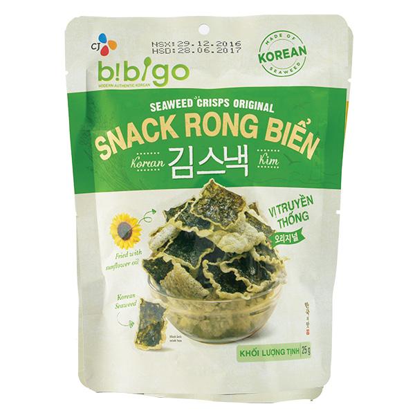 Snack Rong Biển Bibigo Truyền Thống Gói 25G