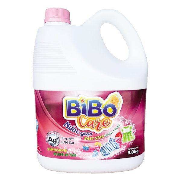 Nước Giặt Bibo Care Baby Star Thiên Nhiên Bình 3Kg