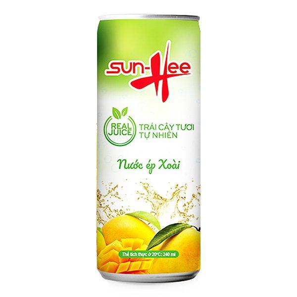 Nước Trái Cây Sun-Hee Vị Xoài Lon 240Ml
