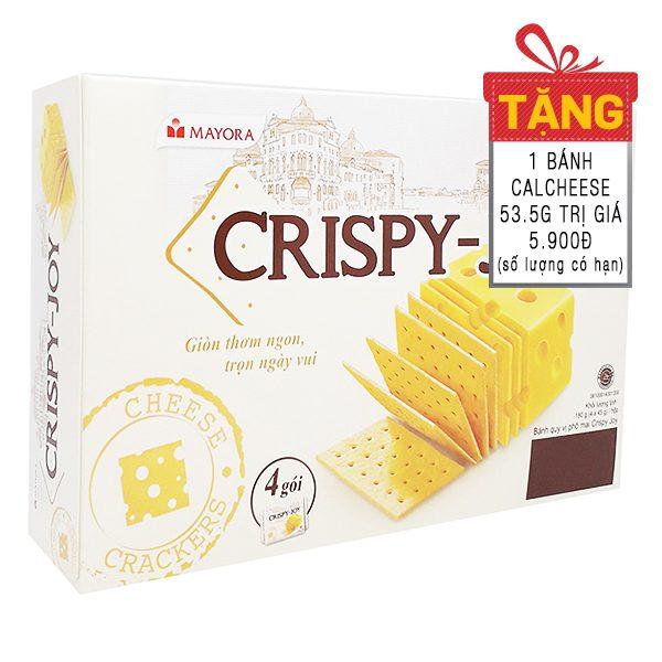 Bánh Quy Phô Mai Crispy Joy Hộp 4 Gói*45G